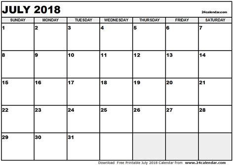 printable july 2018 calendar printable calendar july 2018 pdf yspages com