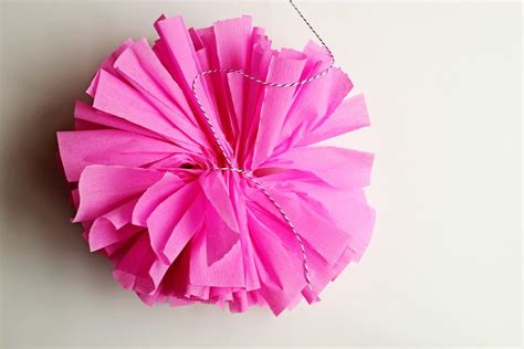 How To Make Crepe Paper Pom Poms - diy crepe paper pom 7 the sweetest occasion the
