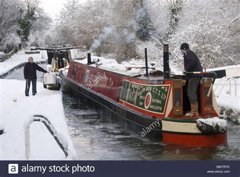 boat locks canal snow ice narrow boat boat boats grand union locks