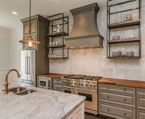 rustic grey kitchen cabinets best 25 stainless steel kitchen shelves ideas on