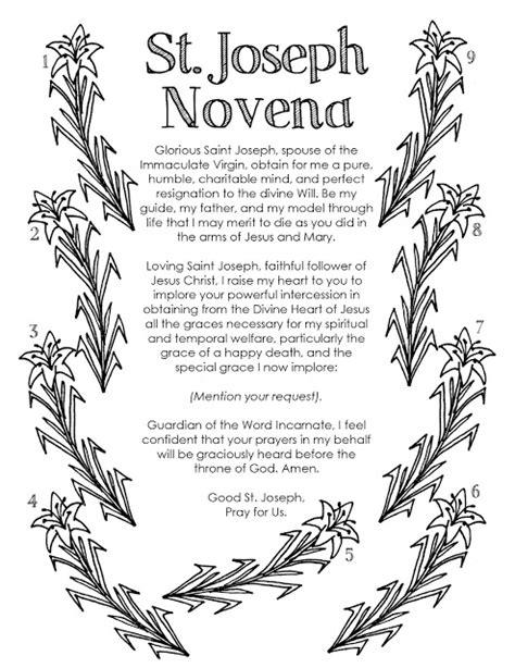 st novena look to him and be radiant st joseph novena color a novena
