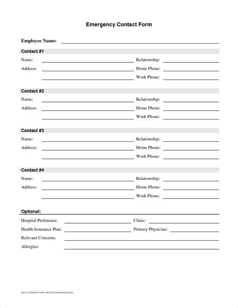 update contact information form template vjfwk fresh sample