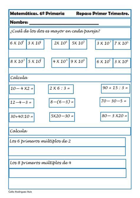 cuaderno de repaso matem 225 ticas de primero ejercicios de repaso de matem ticas de 1 a 4 de eso con ejercicios de matem 225 ticas para sexto