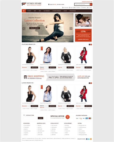 magento funky store e commerce template by themevilla on