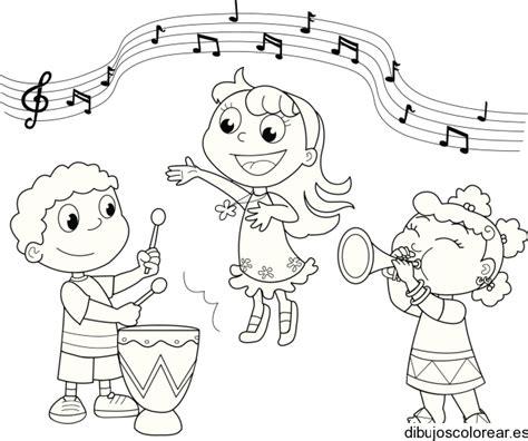 imagenes de niños tocando instrumentos musicales dibujos ni 241 os tocando instrumentos musicales para colorear