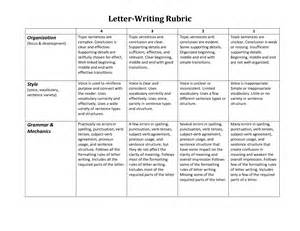 Letter Rubric Choice Board Checklists Rubrics Profforte
