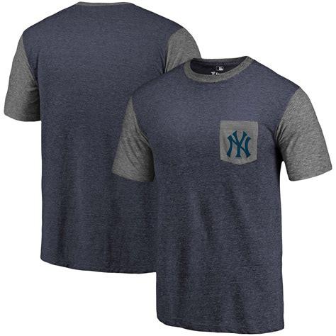 Branded Herring Pocket Shirt new s new york yankees fanatics branded navy heathered gray refresh pocket t shirt cheap sale