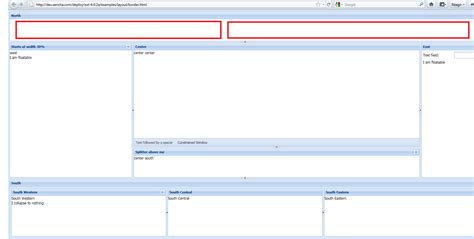 layout in extjs 6 add items in layout border extjs stack overflow