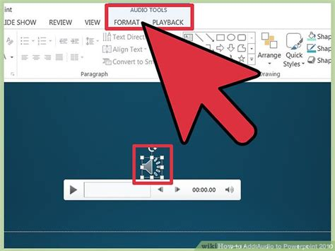 format audio powerpoint 2010 how to add audio to powerpoint 2010 6 steps with pictures