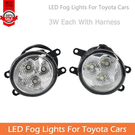 Lu Led Toyota Avanza for toyota cars 9w each led fog light with harness for