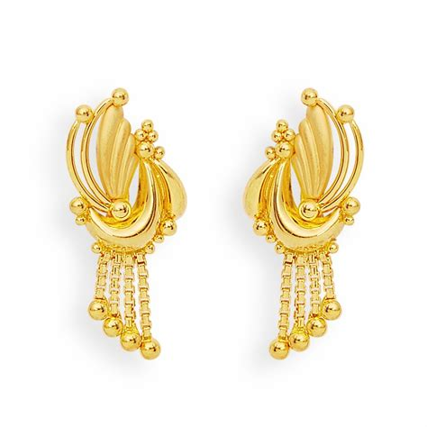 Kerala Home Design Dubai by Earrings Gold Feather And Balls Earrings Grt Jewellers