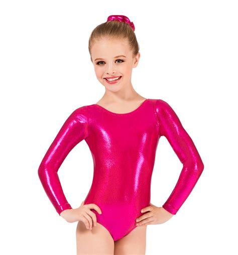 sleeve metallic leotard gymnastics discountdance
