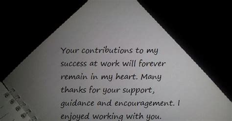 appreciation letter to colleague thank you notes and appreciation messages for a colleague