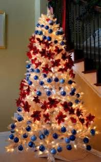 christmas tree decorations blue and red most beautiful and