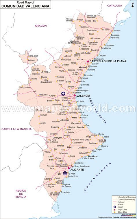 comunidad valenciana road map