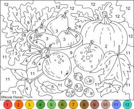 color numbers color by number coloring pages