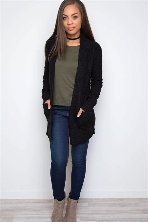 knit outfit best 25 black cardigan ideas on black