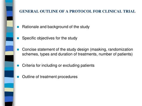 Clinical Trial Protocol Outline by Ppt Experimental Studies Powerpoint Presentation Id 2062809