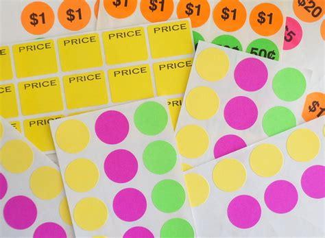 Yard Sale Price Stickers