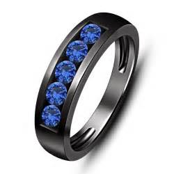 blue sapphire 5 1 00 ct tw s wedding band ring