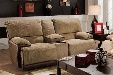 reclining loveseat cover clayton reclining console loveseat in two toned cover by