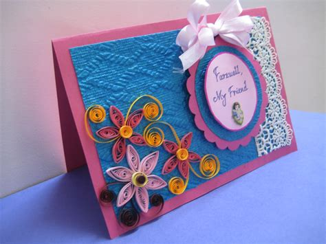 Handmade Farewell Cards For Seniors - my artbook farewell card