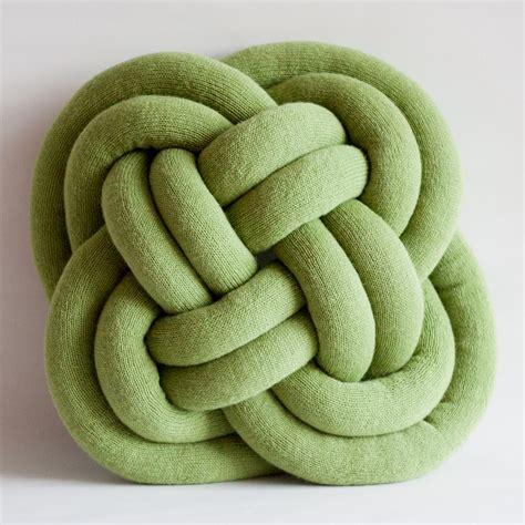 knot pillows notknot cushions by umemi knitted wool rope knot pillows