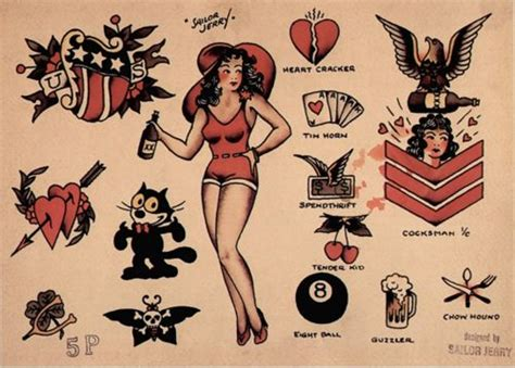 sailor jerry heart tattoo designs sailor jerry sailor jerry tattoos and flash on