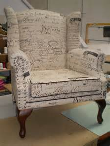 butterfly wing chair in fabric traditional