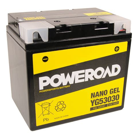 Motorrad Batterie 12v 28ah by Poweroad Gel 53030 12v 28ah Ve02 704080