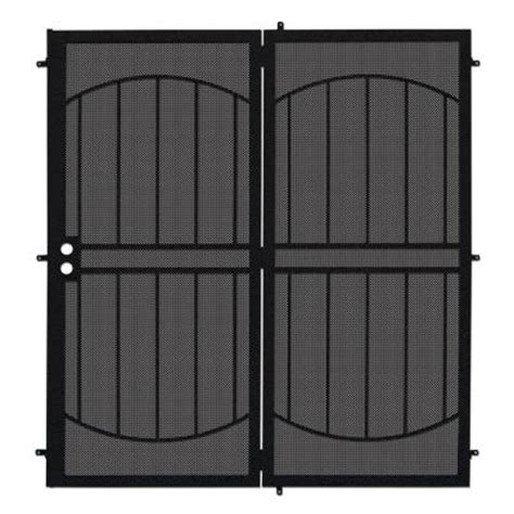 Security Patio Doors Home Depot by Unique Home Designs 72 In X 80 In Arcada Black