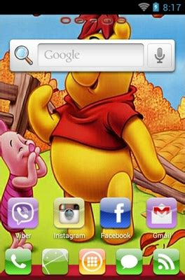 themes android winnie the pooh winnie the pooh android theme for go launcher