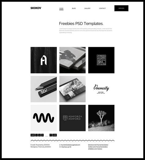 free personal portfolio template free pik psd