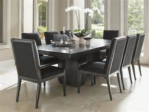 9 Piece Counter Height Dining Room Sets carrera modena double pedestal dining table lexington