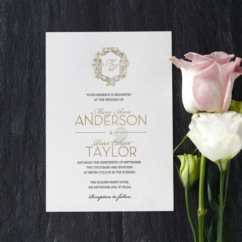 Crest Wedding Invitations luxurious and lavish wedding invitation with luxe foil