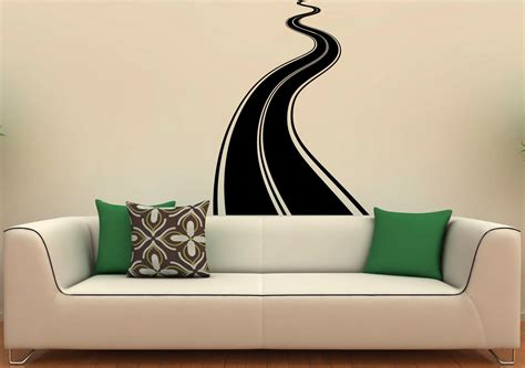 road wall stickers road highway wall decal vinyl stickers roadway home interior