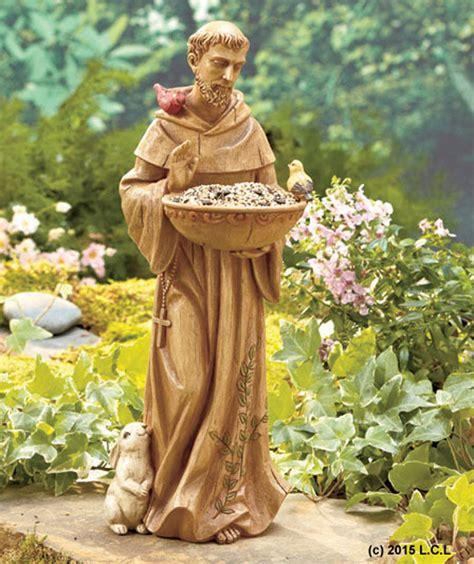 st francis bird feeder planter religious yard garden