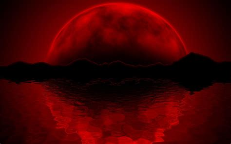 eclipse theme desert red moon wallpapers wallpaper cave