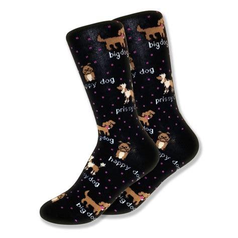 dogs in socks lover socks for black