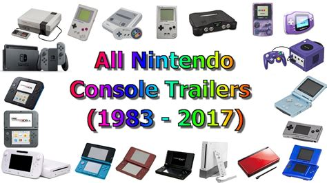 Every Nintendo Console by All Nintendo Console Trailers 1983 2017