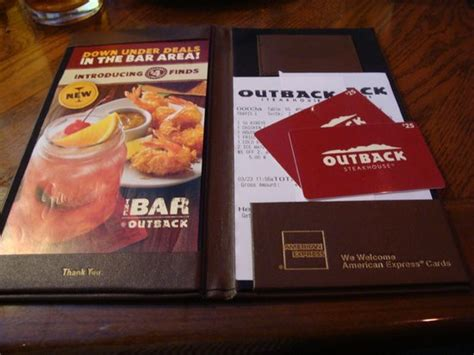 Outback Steakhouse Gift Card Check - specials on appetizers picture of outback steakhouse addison tripadvisor