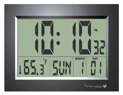 Wall Clock Digital by Digital Lcd Clocks Big Display Atomic Clock