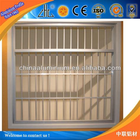 L Gread Alumumium Designt wrought iron window grill design for safety aluminium extrusion profile new iron grill window