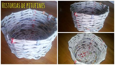 como hacer cestas de papel de periodico c 243 mo hacer cestas con papel