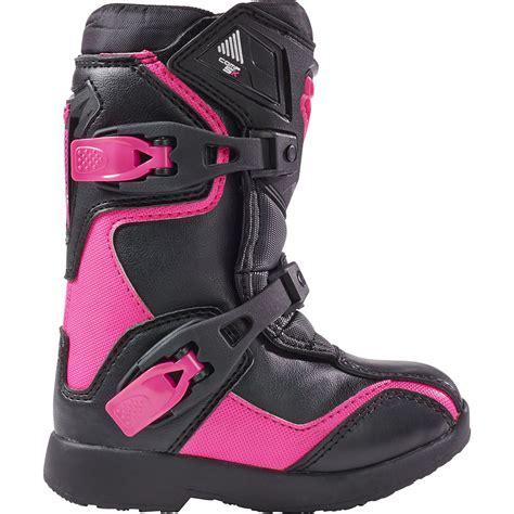 baby motocross boots new fox racing 2017 mx comp 5k black pink girls peewee