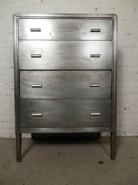 Metal Dresser by Mid 20th Century Metal Dresser By Simmons At 1stdibs