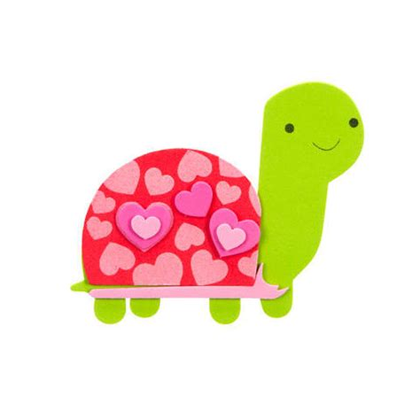 turtles valentines foamies foam kit craft project s day