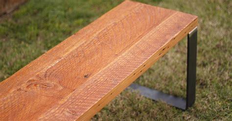 wood bench metal base arbor exchange reclaimed wood furniture reclaimed wood