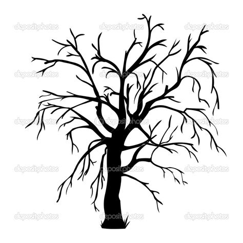 bare tree coloring page coloring pages