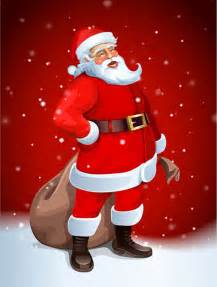 santa claus greeting cards 12 free vector graphic
